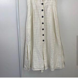 l*space Dresses - L*Space Jordan White Button Up Midi Dress